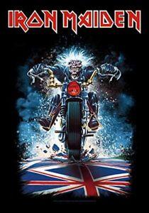Iron Maiden Eddie On Motorbike Large Textile Flag 1100mm x 750mm (hr)