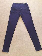 Women's Levis Stretch Jeans Leggings W25 L30 Aubergine Purple Colour,Fab (479)