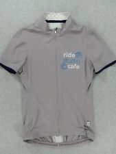 Rapha Soulless RIDE STUDIO CAFE Full Zip S/S Cycling Jersey (Womens Medium)