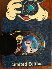 Disney Vacation Club DVC 2015 Camera Pin OLAF Frozen LE2500 Hinged Exclusive