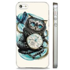 Alice In Wonderland Cheshire Cat CLEAR PHONE CASE COVER fits iPHONE 5 6 7 8 X