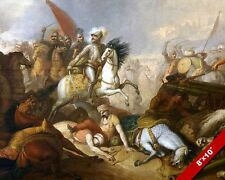 BATTLE OF KHOTYN UKRAINE PAINTING POLISH OTTOMAN WAR ART REAL CANVAS PRINT