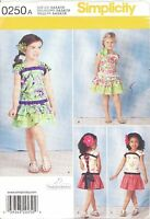 Simplicity 1627 Girls' Top and Skirt  3, 4, 5, 6, 7, 8  Sewing Pattern