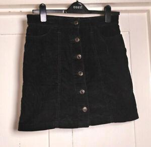 Next Black Corduroy Skirt size 6