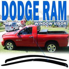 Fits 02-09 Dodge Ram Regular Cab Window Visors 2Pc