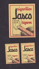 Ancienne étiquette allumettes Belgique  BN30994 Cigarillos Jasco