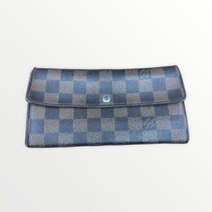 LV2210 LOUIS VUITTON Brown Damier Ebene Canvas Leather Sarah Envelope Wallet USA