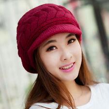 Women Winter Warm Baggy Beanie Beret Caps Knit Crochet Hat Girl Slouch Ski Cap