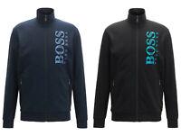 Hugo Boss Men's Sweatshirts Texture Logo Zip Up Track Jacket Loungwear Tracksuit