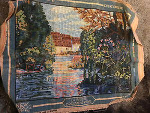 French Tapestry A La Reviere Crèations Margot de Paris French Water Scene