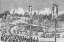 MADAGASCAR. King's coronation Andohalo, Kabary Ground Antananarivo, print, 1863