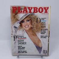Playboy Magazine June 1986 Playmate of the Year Kathy Shower, Linda Evans