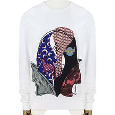 Stella McCartney White Embroidered Patchwork Superhero Sweatshirt IT42 UK10