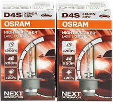 2x Osram D4S Night Breaker Laser Xenon headlight bulbs Xenarc 66440XNL-2 HID