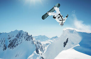 SNOWBOARDING POSTER 1 (4 SIZES A5-A4-A3-A2) + A FREE SURPRISE A3 POSTER