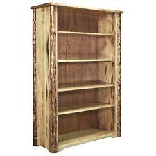 Rustic Lodge Style Bookcase Book Shelf Amish Made Log Furniture Montana Style