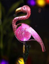 Pink Flamingo Bird Ornament Garden Yard Lawn Patio Decor Outdoor LED Solar Light