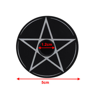 Pentagram Mystical Spell Candle Holder Wicca Pagan Ritual Goth Pentacle Witch