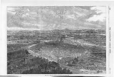 1870 FRANCO GERMAN WAR View of STRASBOURG from the West (120)
