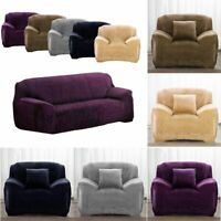 Luxury 1-4 Seat Velvet Sofa Cover Stretchy Couch Thick Plush Slipcover Protector