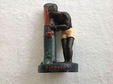 Vintage Chalkware Black Americana Firestone Statue Figurine