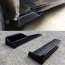 2pcs Black ABS Car Rocker Side Skirt Splitters Winglet Under Body Scratch Wings