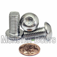 10mm x 1.50 x 20mm - Qty 10 - A2 Stainless Steel BUTTON HEAD Screws M10-1.5 x 20