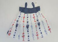 NWT Baby Gap Girl Size 0 3 6 12 18 24 Months Chambray Bow Flower Americana Dress