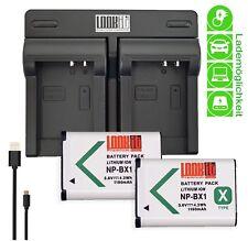 LOOKit Dual Lader + 2x LOOKit BX1 für Sony RX100 III, Sony DSC-RX1, Sony HDR-AS1