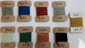 """1 = 3yd  CRYSTAL CHENILLE  """" LARGE """" choose your colors  { PRICE FOR ONE COLOR }"""