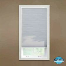 Cellular shade, white, blackout fabric, 30in W x 48in H