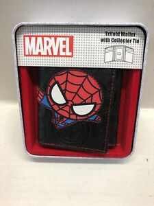 marvel spiderman Trifold Wallet With Collector Tin