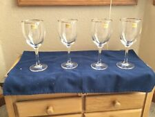 Luminarc Nuance Gold Wine Goblets Set Of 4 w/box New