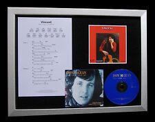 DON McLEAN Vincent LTD GALLERY QUALITY CD FRAMED DISPLAY+EXPRESS GLOBAL SHIP