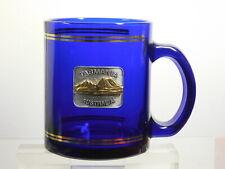 VINTAGE COBALT BLUE GOLD PLATED TRIMMED TASMANIA AUSTRALIA WONDERFUL GLASS MUG