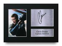 Chris Evans Signed A4 Framed Printed Autograph Print Captain America Avengers
