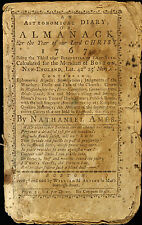 1767 Almanac Published in Boston by Nathaniel Ames, Complete