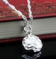925 Sterling silver Plated Fashion Women Rose Pendant Necklace Chain Jewelry NEW