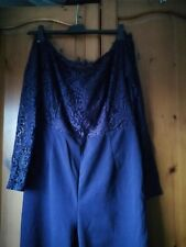 Shein Navy lacy jumpsuit size 12