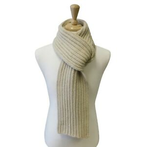 Traditional Arran Style Scarf - Knitted in Hawick, Scotland