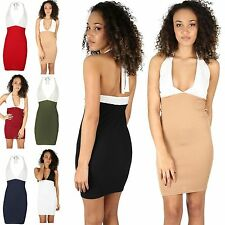 Halterneck Polyester Stretch, Bodycon Dresses for Women