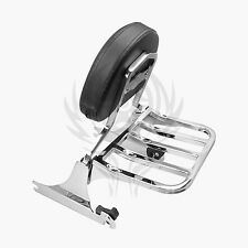 Chrome Backrest Sissy Bar and Rack for Harley Softail 200mm 06-UP