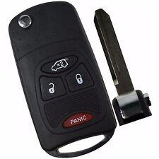 4 Button Remote Key Shell Case For Jeep Dodge Cheysler Sebring Avenger Nitro Fob