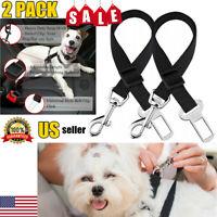 2 Pack Dog Cat Pet Safety Seat belt Clip for Car Vehicle Adjustable Harness Lead