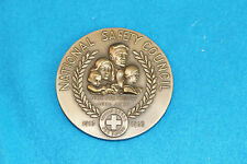 VINTAGE NATIONAL SAFETY COUNCIL 1963 MEDAL - WHAT IS PAST IS PROLOGUE - BRONZE