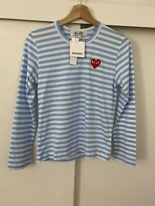 Comme des garcons Play Women's Longsleeve Shirt Sz Small Brand New