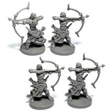 Lot 4 Archer DND Dungeons & Dragon D&D Marvelous Miniatures Toy Figure Set game