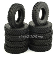 4 X Tamiya 1:14 1/14 Rubber Tires Tyres For Tractor Truck Trailer Climbing Car