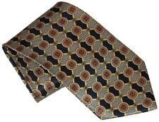 $275 NEW ALFRED DUNHILL NAVY BLUE YELLOW GOLD RED 100% SMOOTH SILK NECK TIE