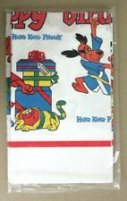Vintage 1975 Hong Kong Phooey Happy Birthday Tablecloth Table Cover